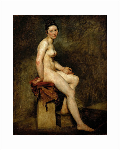 Mademoiselle Rose (Seated Nude) by Eugène Delacroix