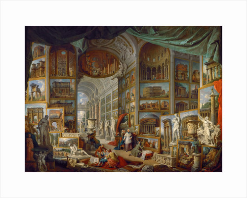 Picture Gallery with Views of Ancient Rome (Roma Antica) by Giovanni Paolo Panini