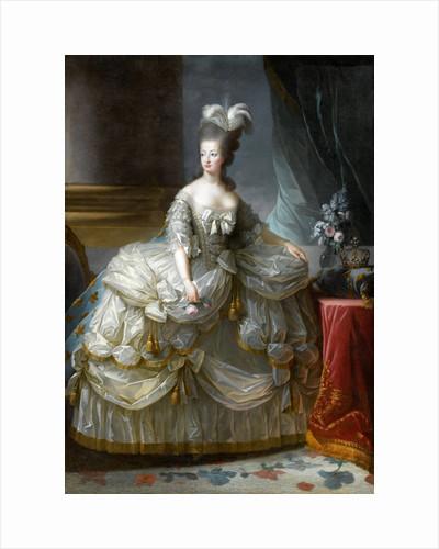 Portrait of Queen Marie Antoinette of France by Marie Louise Elisabeth Vigée-Lebrun