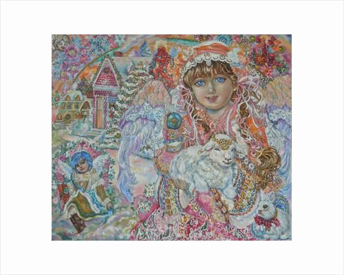 Angel with Lamb of God by Yumi Sugai