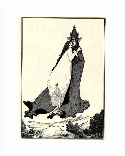 The Ascension of Saint Rose of Lima by Aubrey Beardsley