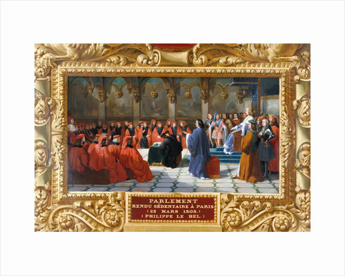 Philip IV the Fair establishes the Parliament in Paris in 1303 by Jean Alaux