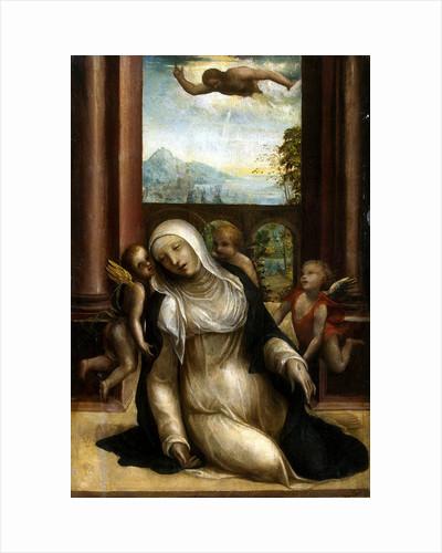 Stigmatization and Faint of Saint Catherine of Siena by Sodoma