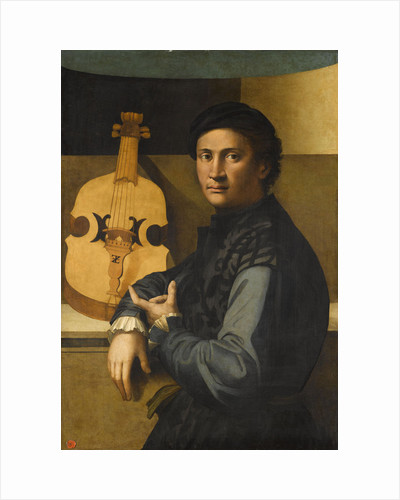 Portrait of a viola player by Paolo Zacchia the Elder