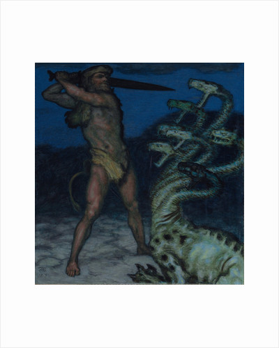 Hercules and Hydra by Franz Ritter von Stuck