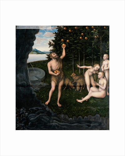 Hercules stealing the apples from the Hesperides by Lucas Cranach the Elder