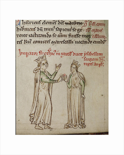 Frederick II and Isabella of England by Matthew Paris