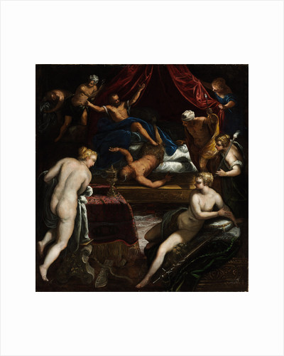 Hercules Expelling the Faun from Omphales Bed by Jacopo Tintoretto