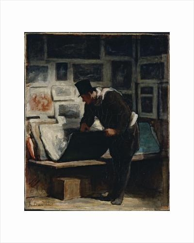 The Prints Collector by Honoré Daumier