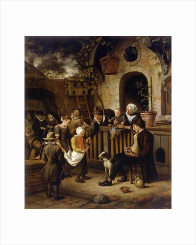The little alms collector by Jan Havicksz Steen