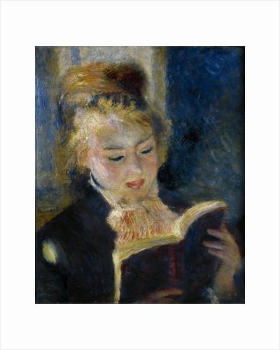A girl reading (La liseuse) by Pierre Auguste Renoir