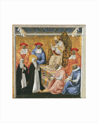 Saint Catherine of Siena before the Pope at Avignon by Giovanni di Paolo