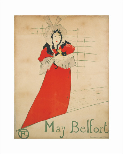 May Belfort (Poster) by Henri de Toulouse-Lautrec