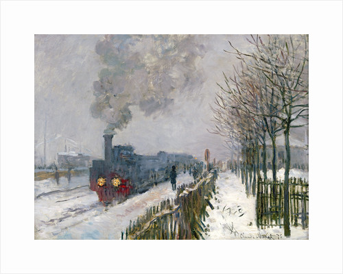 Train in the Snow (The Locomotive) by Claude Monet
