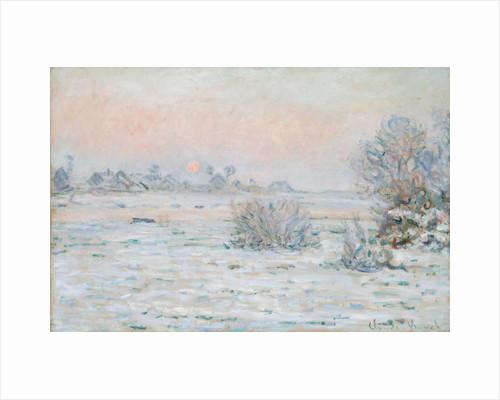 Winter Sun at Lavacourt by Claude Monet
