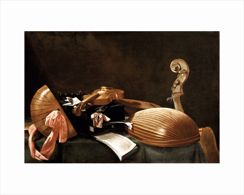 Still Life with Musical Instruments, c. 1650 by Evaristo Baschenis