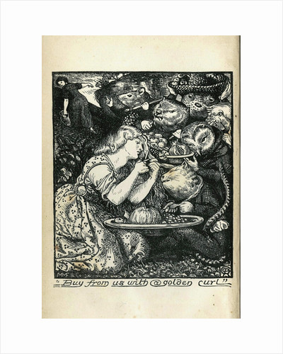Frontispiece of Goblin Market and Other Poems by Christina Rossetti, 1861-1862 by Dante Gabriel Rossetti