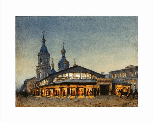 The Hay The Sennaya Square and the Saviour Church in Saint Petersburg by Anton Sergeevich Lytkin
