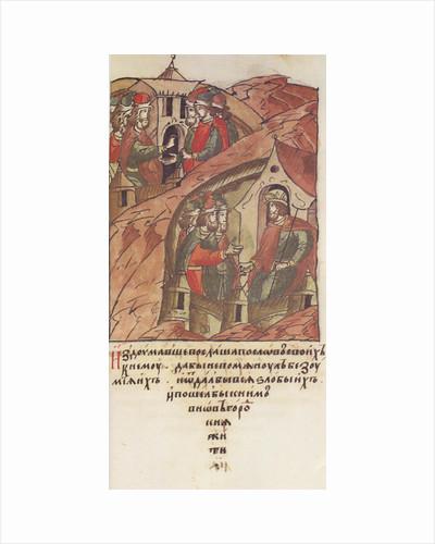 Novgorod veche. The Novgorodians invited Yaroslav II Vsevolodovich to rule over them. by Anonymous
