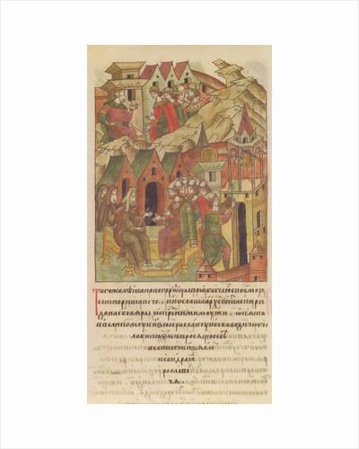 Novgorod veche. Archbishop Spyridon at Court of Yaroslav II Vsevolodovich by Anonymous
