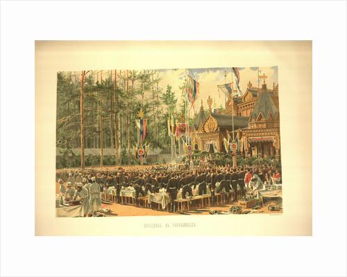 The coronation feast in Sokolniki by Konstantin Apollonovich Savitsky