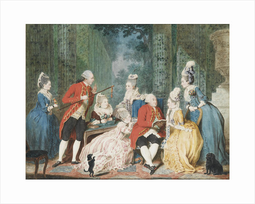 Society in the Palais Royal, ca 1775 by Louis Carmontelle