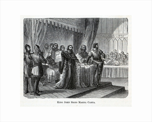 King John Signs Magna Carta, 1882 by Anonymous