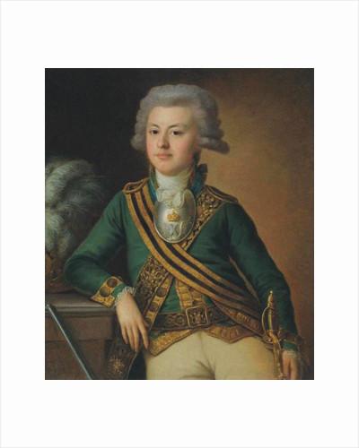 Portrait of Yakov Ivanovich Likhachov, Podporuchik of the Semyonovsky Life-Guards Regiment, 1792 by Ermolay Dementyevich Kamezhenkov