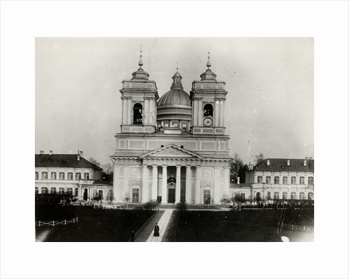 The Trinity Cathedral of the Saint Alexander Nevsky Lavra in Saint Petersburg, 1910s by Karl Karlovich Bulla