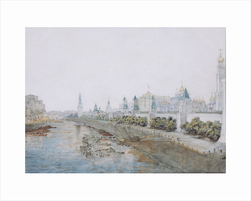 View of the Kremlin from the Moskvoretsky Bridge, 1851 by Anonymous