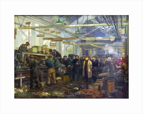 Kirov visiting the Putilov factory by Anonymous