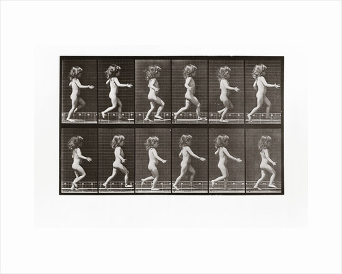Child running, Plate 469 from Animal Locomotion, 1887 by Anonymous