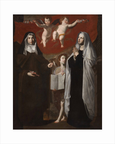 Saint Elizabeth of Hungary and Saint Frances of Rome by Anonymous