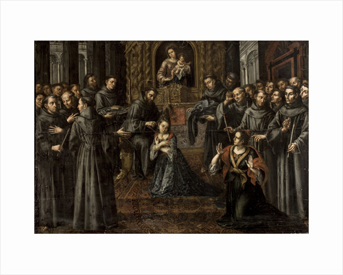 The profession of Saint Clare by Anonymous