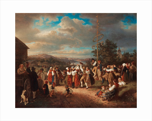 Midsummer dance in Rättvik by Anonymous