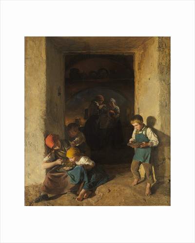 Children Receiving their Breakfast, 1859 by Anonymous