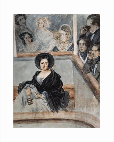 Marie Duplessis, La Dame aux Camélias, 1845 by Anonymous