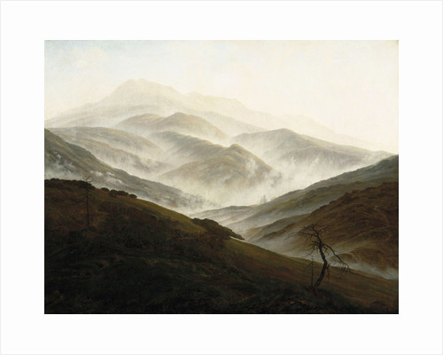 Riesengebirge Landscape with Rising Fog, ca 1820 by Anonymous