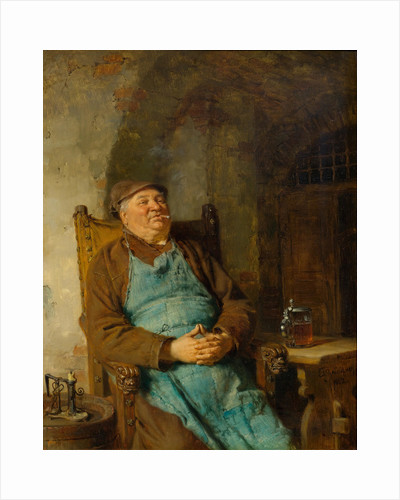 Brew master smoking a cigar, 1882 by Anonymous