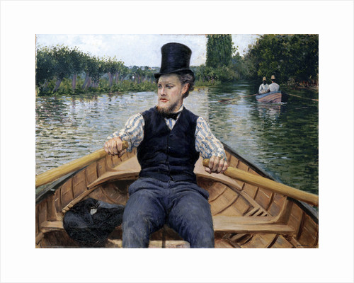 Oarsman in a Top Hat, 1878 by Anonymous