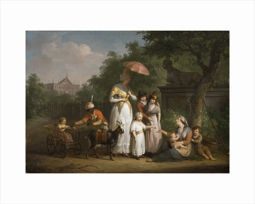 A Noble Family Distributing Alms in a Park, 1793 by Anonymous
