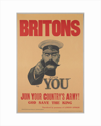 Britons, Lord Kitchener Wants You. Join Your Countrys Army!, 1914 by Anonymous