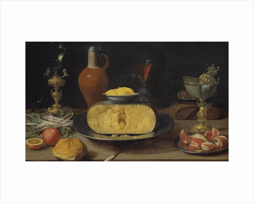 Breakfast Still Life with Cheese and Goblet by Anonymous