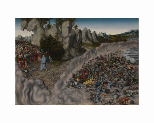 The Crossing of the Red Sea (Pharaohs Hosts engulfed in the Red Sea), 1530 by Anonymous