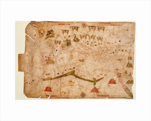 Nautical chart of the Mediterranean Sea, 1508 by Anonymous