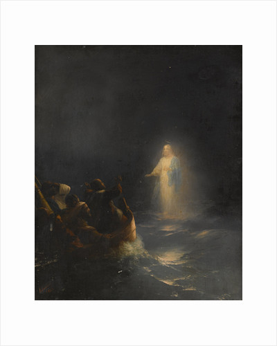Jesus Walks on Water, 1863 by Anonymous