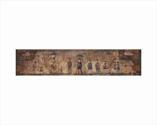 The procession of the tombs master. The mural painting of the Susan-ri Tomb, Second Half of the 5th by Anonymous