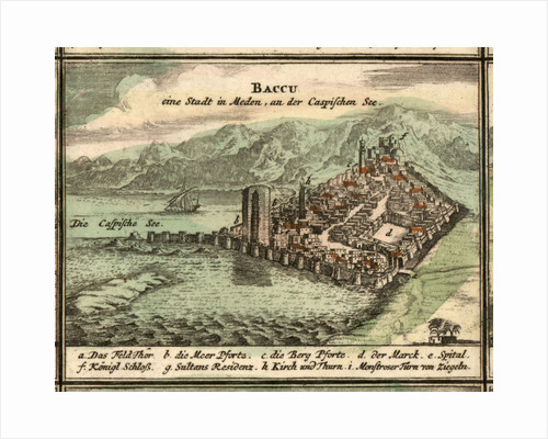 Map of Baku, 1762 by Anonymous