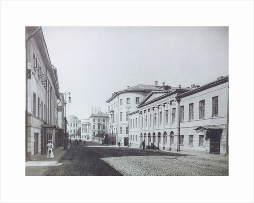 Mokhovaya Street in Moscow, 1890s by Anonymous