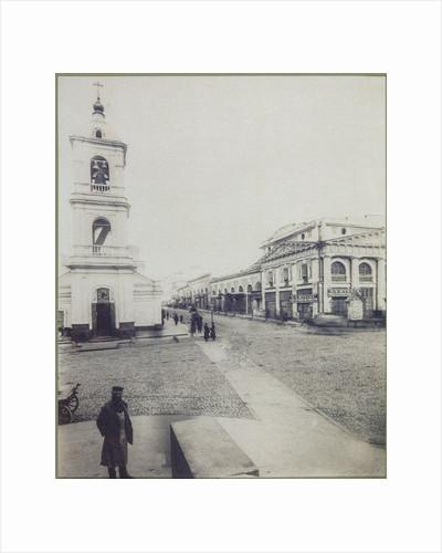 Nikolskaya Street in the Kitay-Gorod of Moscow, 1890s by Anonymous